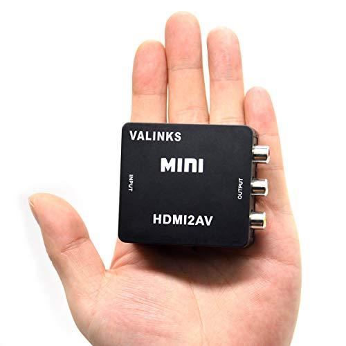 Nicoone HDMI zu RCA Video Audio Konverter 1080P/ 720Phdmi- Kompatibel zu AV/RCA Composite CVS Video Audio Konverter Adapter für PC Laptop HDTV STB VHS VCR Kamm Kamera