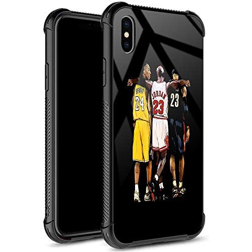 iPhone XR Case,USA Basketball Star 33 Pattern Design 9H Tempered Glass iPhone XR Cases for Girls Men Boy Women [Anti-Scratch] Fashion Cover Case for iPhone XR(6.1inch)
