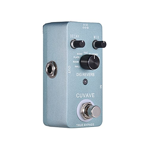 Muslady Digital Reverb Guitar Effect Pedal 9 Reverb Types True Bypass Full Metal...