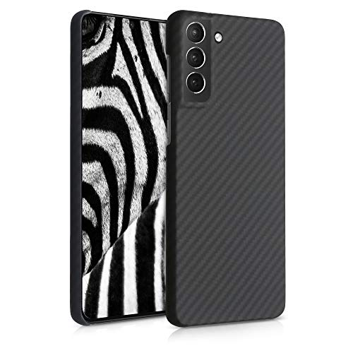 kalibri Schutzhülle kompatibel mit Samsung Galaxy S21 Plus - Hülle Aramid - Handy Cover Hülle Handyhülle Schwarz matt