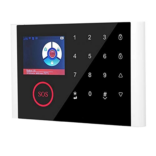 Fockety Alarma de Seguridad WiFi, Alarma de Seguridad para el hogar, botón con Sensor táctil, Estilo Compacto para Timbre, Alarma antirrobo de teléfono, Puerta, Pasillo, Dormitorio