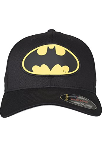 MERCHCODE Herren Batman Flexfit Cap, Blk, L/XL
