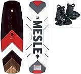 MESLE Wakeboard Set Pilot mit Moto Bindung, Progressive Rocker, Slider Base, für Fortgeschrittene, für Cable und Boot, Längen 134 cm, 138 cm, 142cm,...