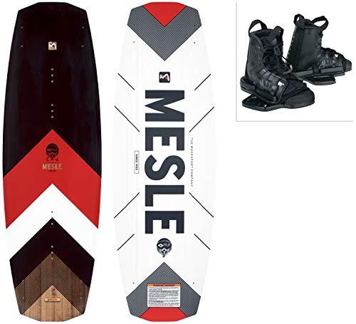 MESLE Wakeboard Set Pilot mit Moto Bindung, Progressive Rocker, Slider Base, für Fortgeschrittene, für Cable und Boot, Längen 134 cm, 138 cm, 142cm, Größe:L-XL, Länge:138 cm
