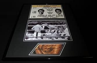 Sugar Ray Leonard Signed Framed 16x20 Photo Set vs Roberto Duran
