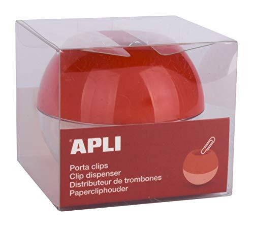 Apli 13351 - Porta Clips Rojo con 35 Clips ⭐