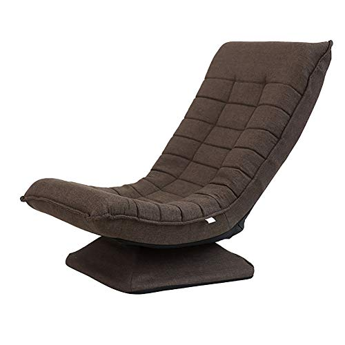 XING ZI LAZY SOFA C-K-P Sofá, sofá Perezoso, Dormitorio, balcón, Tela Informal, sillón Individual (Color : Brown)