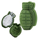 4 Pack 3D Grenade Silicone Mold Large Ice Cube Ball for Whiskey Cocktail