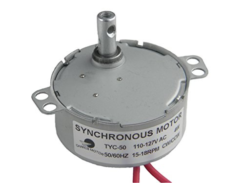 small CHANCS TYC-50 Synchronous motor for tumbler tedging AC 110 V 15-18 rpm CW / CCW 4 W Electricity…