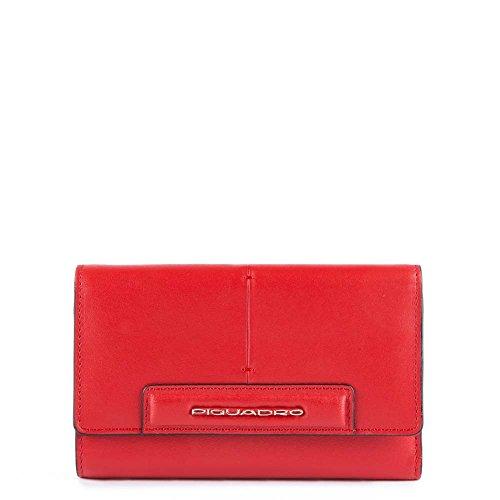 Piquadro Splash Porta carta di identità, 16 cm, Rosso/Sabbia