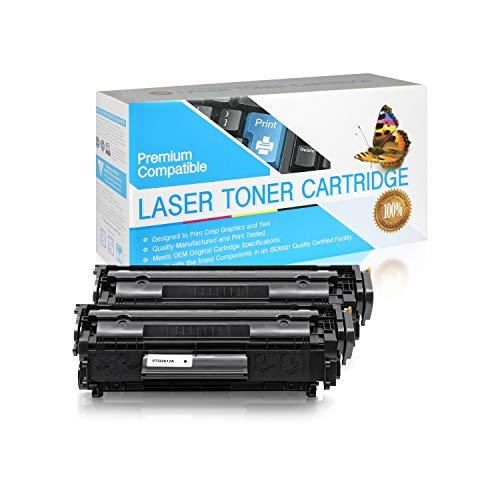 SuppliesOutlet Compatible Toner Cartridge Replacement for HP 12A / Q2612A (Black,2 Pack)