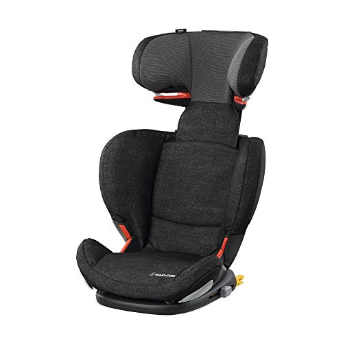 Maxi-Cosi RodiFix AirProtect Child Car Seat Isofix Booster Seat Extra Protection, 3.5-12 Years, Nomad Black, 15-36 kg