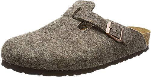 Birkenstock Unisex-Erwachsene Boston Wolle Clogs, Braun (Cacao), 45 EU