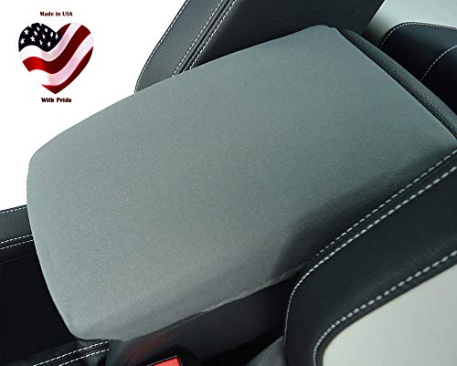 Car Console Covers Plus Made in USA Neoprene Center Armrest Console Cover Designed for Honda CRV 2016-2020 Gray (X1PLUS)