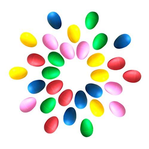 Jky Set van 30 Pasen, plastic eieren, feestaccessoires, voor tuinmand, speelgoed Pasen, festivals, games, hide seek