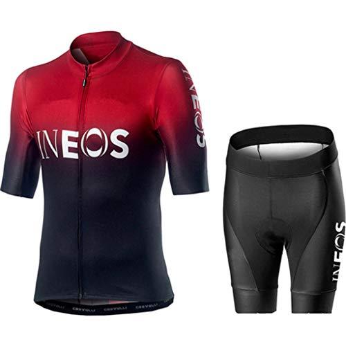 Gnaixyc Conjunto Ropa De Ciclismo, Hombres De Bicicleta con 9D Gel Acolchado...