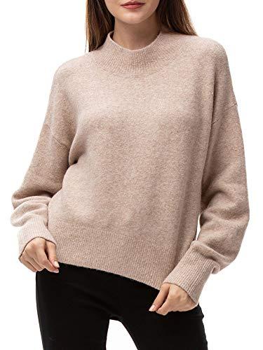 Woolen Bloom Jersey Punto Mujer Invierno Basico Cuello Redondo Jerseys Camiseta Manga Larga Sueter...