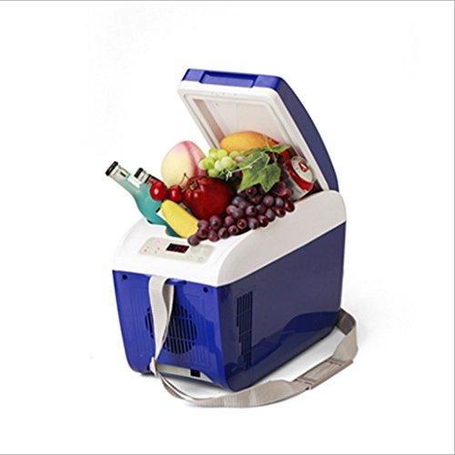 Q-HL Auto Elektrische Kühlschrank Kühlbox, 9L Auto Kühlschrank, tragbare Kühlschrank Kompressor, AC und DC Hot Spot System, Thermostat, Medikamentenlager, Kosmetik Kühlschrank. (Color : Blue)