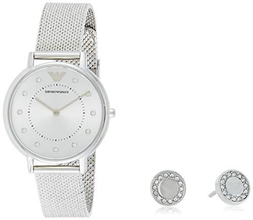 Emporio Armani Reloj Analogico para Mujer de Cuarzo con Correa en Acero Inoxidable AR80029