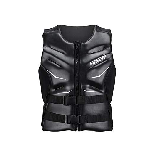 Why Choose HJAZ Life Jacket, Adult Life Jacket,Black in The Water, The Protection of Life. (Size : X...