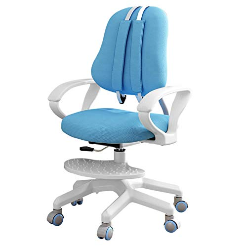 Adjustable Kids Chair, Children Ergonomic Design Sitting Posture Correction Desk Chair, Study Chair for Bedroom Desk, Multi-Function Adjustable Height Kid Chair Suitable for 3-18 Years Old(Blue)