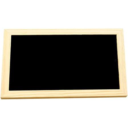 ULTNICE Pizarra colgante de madera de un solo lado del tablero de mensajes colgante con cadena colgante para el arte de la pared artesanías de decoración del hogar 30x20 cm