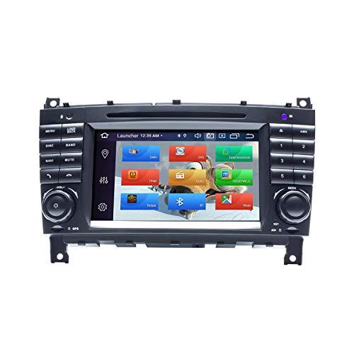 ZLTOOPAI Autoradio per Mercedes Benz W203 W209 Classe C C180 C200 CLK200 Android 10 Octa Core 4G RAM 64G ROM 7' IPS Double Din in Dash Navigazione GPS per auto Lettore DVD