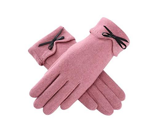 DEBAIJIA Guantes de Cachemira para Mujer Pantalla Táctil Sensibles la a Prueba del Viento y Antideslizante Elegante caliente espesor cálido forrado Otoño e invierno para Deportes al Aire Libre