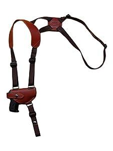 Barsony New Burgundy Leather Shoulder Holster for Mini .22 .25 .32 .380 Pistols