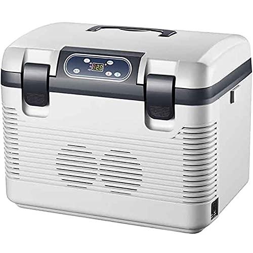 WUQIAO Refrigerador de Coche 19L DC12-24V / AC220V Compresor de calefacción por congelación Refrigeración de Picnic de Cabeza 2~65 Grados