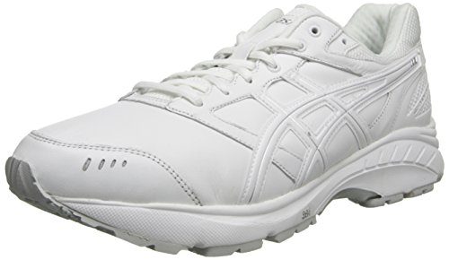 ASICS Men's Gel-Foundation Walker 3 (4E)-M, White/Silver, 6 US