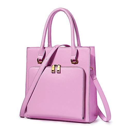Brenice Damen Schultertasche, Feste Multifunktions Handtaschen Arbeit Crossbody Tasche Pink