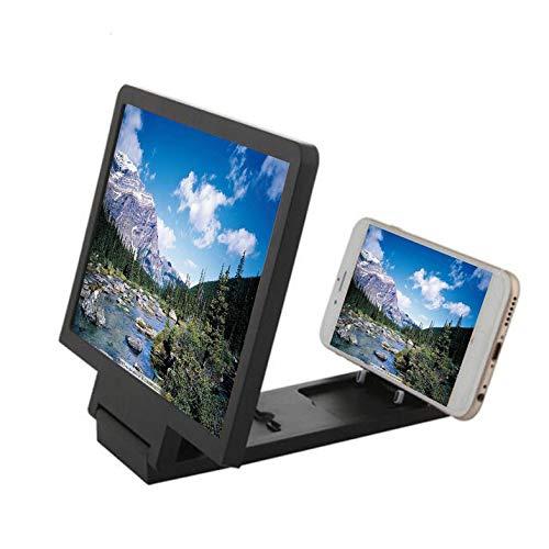 CamKpell Pantalla de teléfono móvil Amplificador de Ojos Protección de Ojos Pantalla de Video 3D Amplificador Plegable Ampliado Ampliar Soporte Soporte - Negro