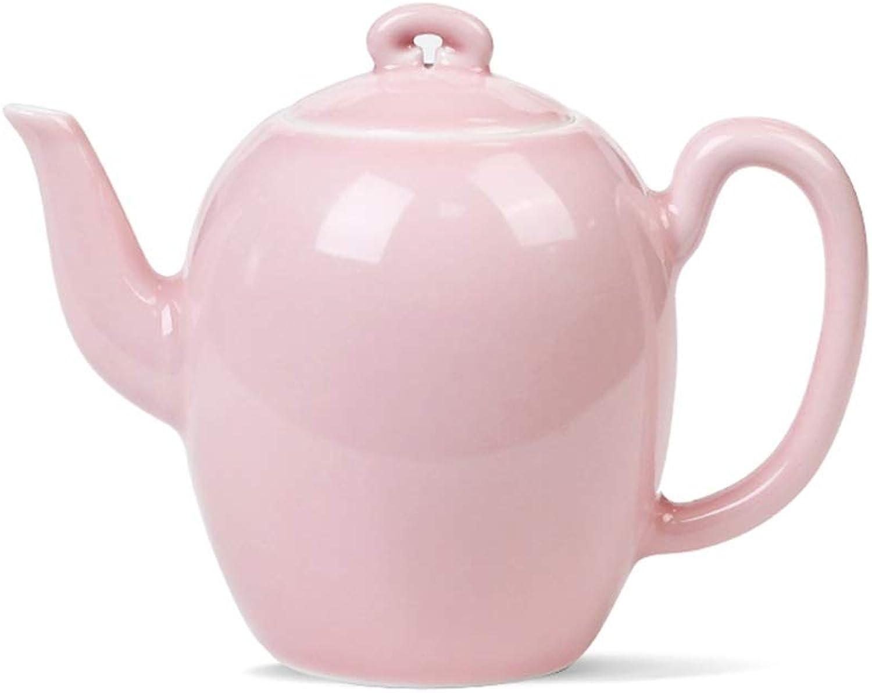 Théière théières théière en céramique haute température filtre rose théière mini théière mignonne (Couleur   rose, Taille   4.3  9.6CM)