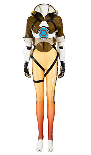 Overwatch OW Tracer Lena Oxton Cosplay Costume Full Set (Women M) - http://coolthings.us