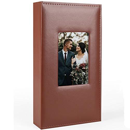 Vienrose Fotoalbum 10x15 300 Fotos Lederbezug Extra Große Kapazität für Familien Hochzeit Jahrestag Baby Urlaub