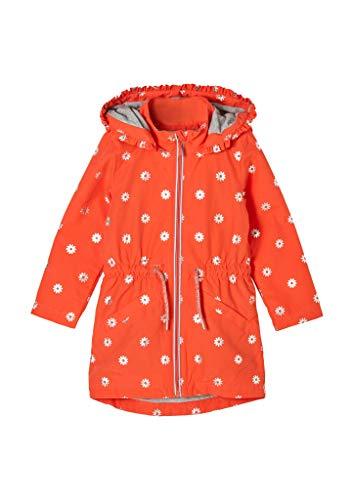 s.Oliver Mädchen Wetterfester Mantel mit Jerseyfutter orange AOP 116