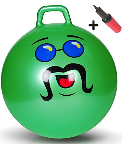 WALIKI Adult Size Hopper Ball | Jumping Ball | Hopping Ball | Bouncing Ball with Handles | Green 29""