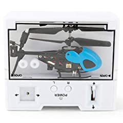 Indoor/outdoor capability. Helicopter Battery: Rechargeable 75mAh Lithium Battery Transmitter Battery: 4 x 1.5V AA Batteries (Not Included) Flexibly control it by radio control function High tenacity propeller, high efficiency, driving motor and surg...