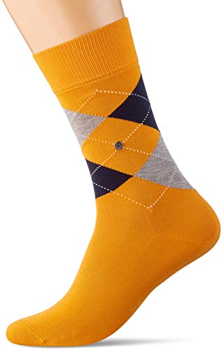 Burlington Herren Manchester M SO Socken, Blickdicht, orange (Pumkin 8950), 40-46
