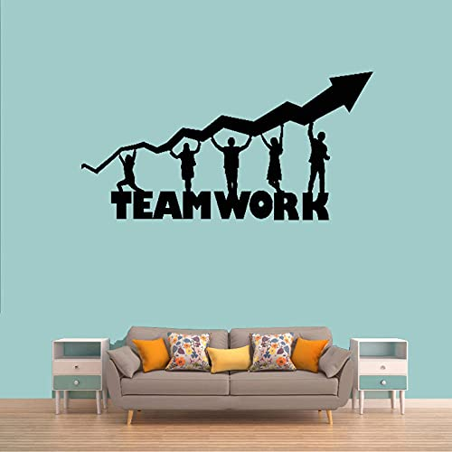 KDSMFA - Adhesivo decorativo para escritorio, vinilo decorativo para el hogar, citas de motivación, papel pintado creativo, arte de pared, 57 x 111 cm