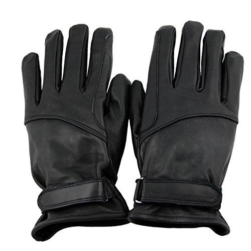 WESTERN-SPEICHER Lederhandschuhe Herren Leder Biker REIT Handschuhe ungefüttert schwarz Größe XL
