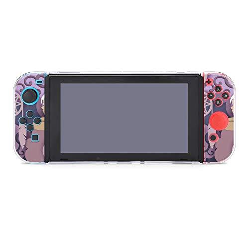 Design37365 Étui de protection pour console Nintendo Switch Style Grunge dessiné à la main avec protection d'écran et poignées pour pouces