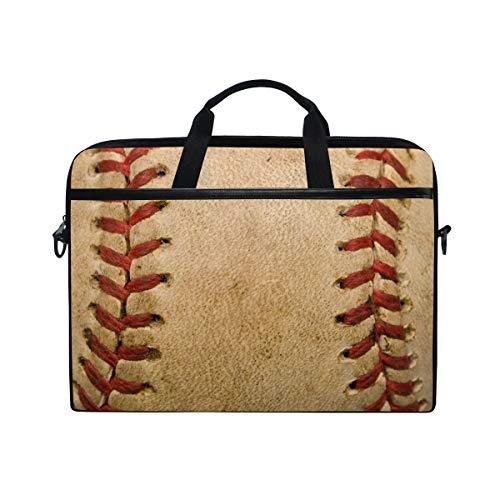 WowPrint Laptop-Schutzhülle, alter Baseball-Sport-Laptop-Tasche, Schultergurt mit Griff, tragbare Notebook-Tasche für 33 / 33,8 / 35,6 / 38,1 cm