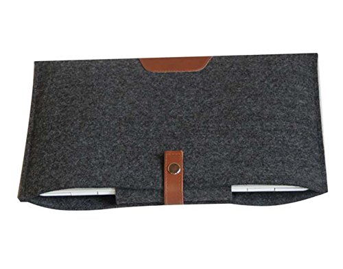 "Funda en Blandas de Fieltro Funda Protectora para ordenador portátil Ultrabook Tablet de maleta bolsa de transporte de 11.6-15.4 pulgadas para MacBook Air/Pro/retina for macbook air 13.3"" Gris Oscuro"