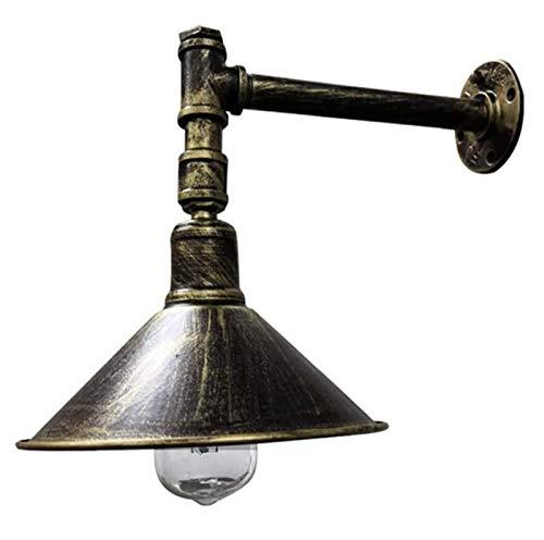OHHG Lámpara de Pared de Tubo de Hierro Forjado Tipo Loft, Barra de Barra de Hierro Forjado Retro, Pasillo, balcón, Restaurante, Bar, lámpara de Pared de Viento Industrial