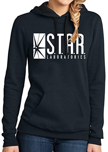 Star Labs Hoodie Sweatshirt Womens Navy L