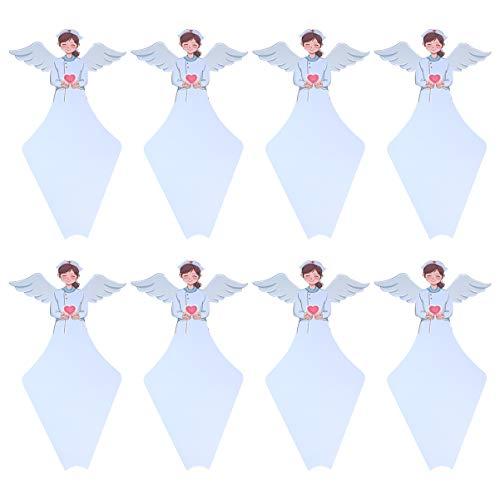 Artibetter 10St Boeket Papier Kegels Engel Vormige Bloemen Wrapper Dozen Decoratieve Bloemen Opslag Geschenkdozen Bloementakken Wrap Houders Voor Arts Verpleegster Hemelsblauw