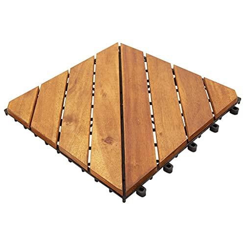 vidaXL Baldosas de terraza 10 uds madera de acacia maciza 30x30 cm