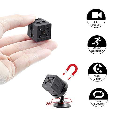 Mini Kamera HD TANGMI Kleine Kamera Überwachungskamera Mikro Sicherheit Kamera Kindermädchen-Kamera mit Bewegungserkennung Nachtsicht